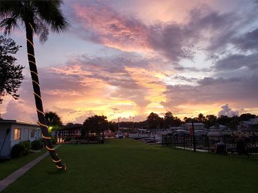 Beautiful Sunset at Kings Bay Lodge Crystal River