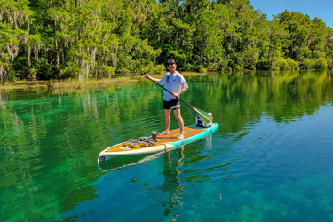 Paddleboard With Manatees in Crystal River